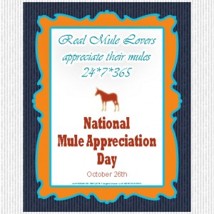 National Mule Appreciation Day free printable